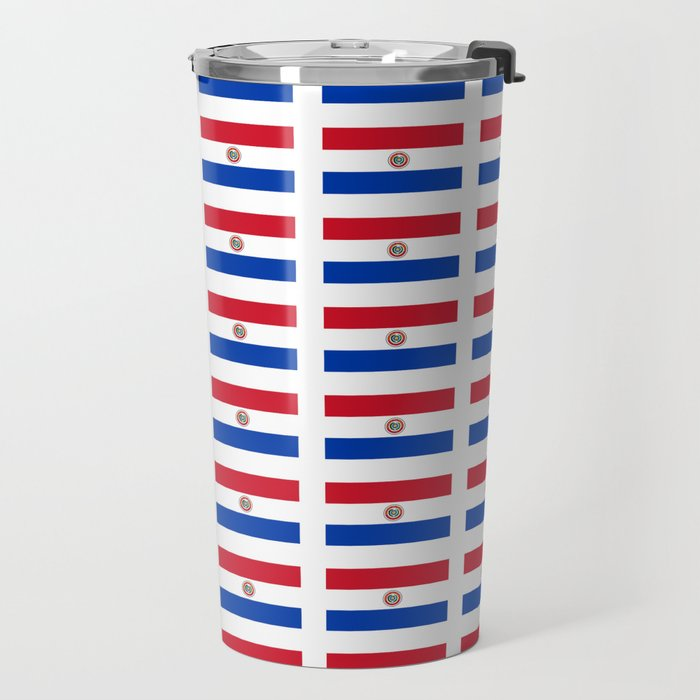 flag of paraguay 2 -paraguyan,asuncion,spanish, south america, latin america,pan flute,coffee,forest Travel Mug