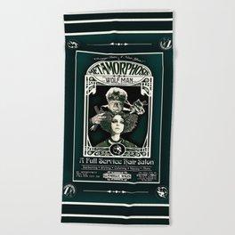 Metamorphosis by The Wolf Man: A Full Service Hair Salon (Vintage) Beach Towel