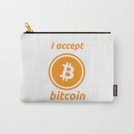 I accept bitcoin Carry-All Pouch