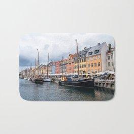 Nyhavn waterfront in Copenhagen Bath Mat