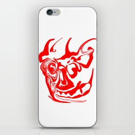 face8 red iPhone Skin
