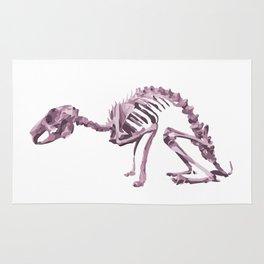 Purple Animal Skeleton Rug