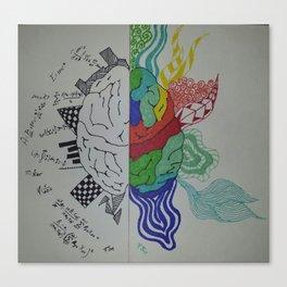 Brain Sides Canvas Print