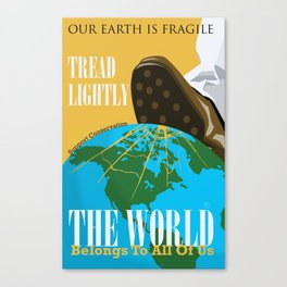 Conservation Propaganda Canvas Print