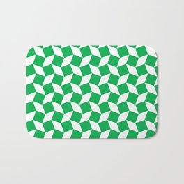 Green Op Art Pattern Bath Mat