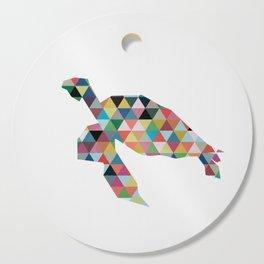 Colorful Geometric Turtle Cutting Board