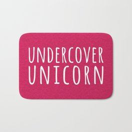 Undercover Unicorn Funny Quote Bath Mat