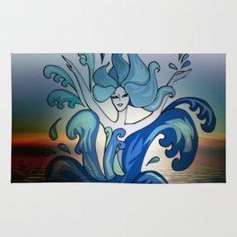 mermaid dance Rug