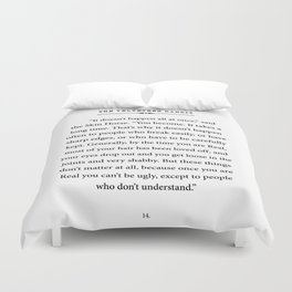 The Velveteen Rabbit ~ You become Real Duvet Cover