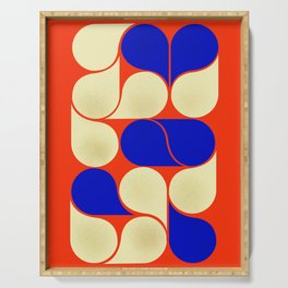 Mid-century geometric shapes-no10 Serving Tray
