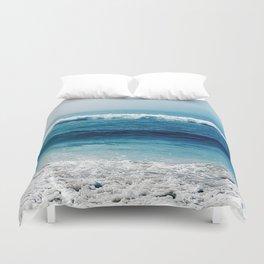 aqua foamy sea Duvet Cover