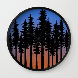 Redwoods Wall Clock