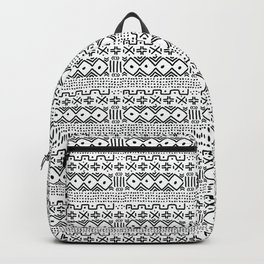 Mudcloth No. 3 in Black and White Backpack