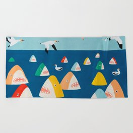 Shark Park Beach Towel