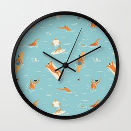 Blue Hawaii Wall Clock