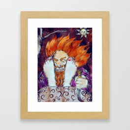 GIANT & GIRL Framed Art Print