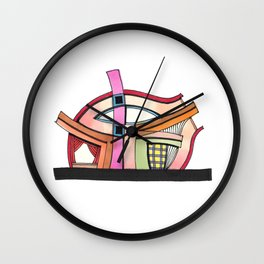 Abstract Theatre Architecture Art 50 Wall Clock