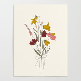 Wildflowers Bouquet Poster