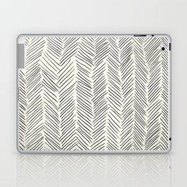 Herringbone Black on Cream Laptop & iPad Skin