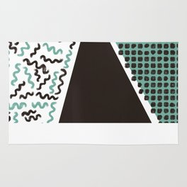Black & Blue Dust Rug