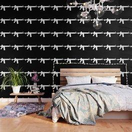 AR-15 (on black) Wallpaper