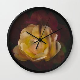 Roses (double exposure version) Wall Clock