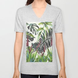 Watercolor Plants II Unisex V-Neck