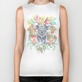 Home Among the Gum leaves Biker Tank