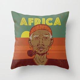 Modern Africa Throw Pillow