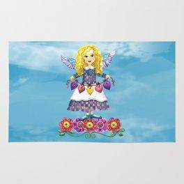 Angel Love (Turquoise) Rug
