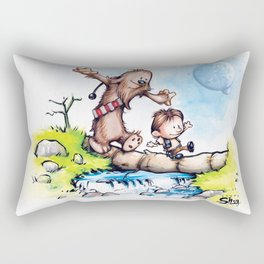Calvin Solo and Hobbes-bacca Rectangular Pillow