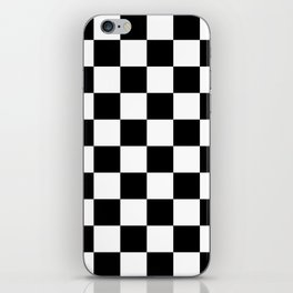 Black & White Checker Checkerboard Checkers iPhone Skin
