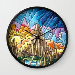 Asgard stained glass style Wall Clock
