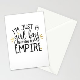 I'm Just A Girl Boss Stationery Cards