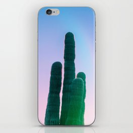 Succulent Cactus Bright Green Purple Sky Colorful Candy Hues iPhone Skin