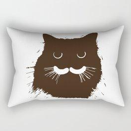 Brown Kitty Kitten Rectangular Pillow