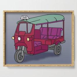 Red tuktuk / autorickshaw Serving Tray