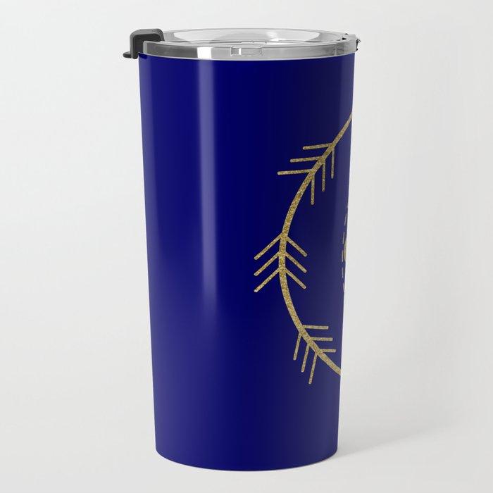 Sacred Geometry Letter G Travel Mug