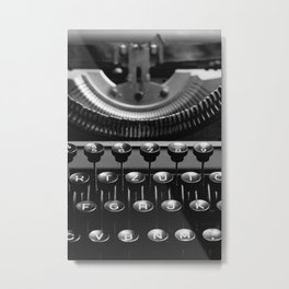 Typewriter No.4 Metal Print