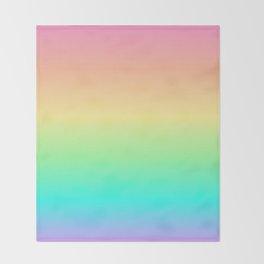 Pastel Rainbow 2 Throw Blanket