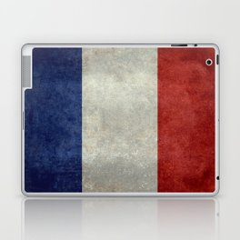 Flag of France, vintage retro style Laptop & iPad Skin