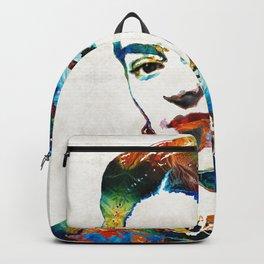 Frida Kahlo Art - Viva La Frida - By Sharon Cummings Backpack