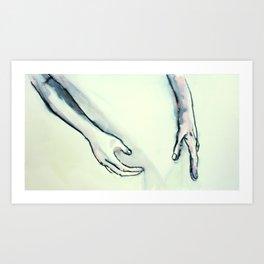 Reaching Art Print