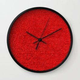 Rose Red Shag pile carpet pattern Wall Clock