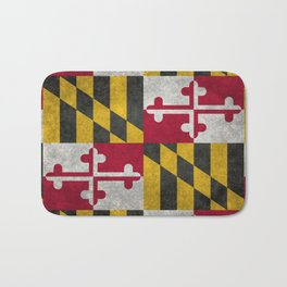State flag of Flag of Maryland, Vintage retro style Bath Mat