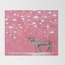 Rain Deer Throw Blanket