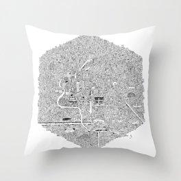 CDMX Throw Pillow