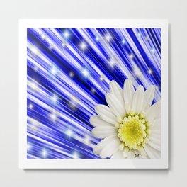 White Daisy Flower art by Saribelle Rodriguez Metal Print