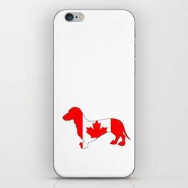 Canada Dachshund iPhone Skin