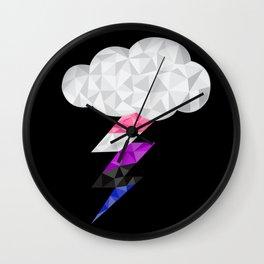 Genderfluid Storm Cloud  Wall Clock